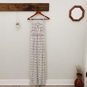 Max Studio White Striped Maxi Dress